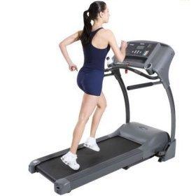 jogging on a treadmill